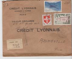 PARIS : LRI + VD De 1960 Affranchie Au Tarif Pour Abbeville - Postmark Collection (Covers)
