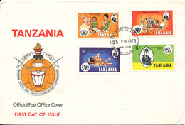 Tanzania FDC 25-6-1979 International Ear Of Child Complete Set Of 4 With Cachet - Tanzanie (1964-...)