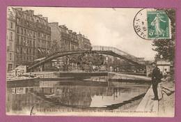 Cpa Tout Paris N°4 La Passerelle De La Rue Alibert Au Canal St MArtin - Collection F Fleury - Distretto: 10