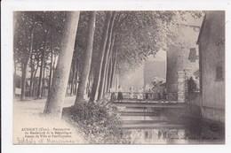 CP 18 AUBIGNY Perspective Du Boulevard De La Republique Fossés De Ville Et Fortifications - Aubigny Sur Nere