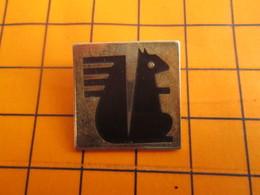 2319 Pin's Pins / Beau Et Rare / Thème BANQUE / L'ECUREUIL Qui Vous Vide Les Coquilles Et Pique Vos Noisettes CAISSE D'E - Banken