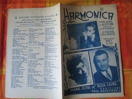 HARMONICA   MARIE JOSE ET REDA CAIRE PAROLES DE J.POTERAT MUSIQUE DE ALSTONE 1947 - Partitions Musicales Anciennes