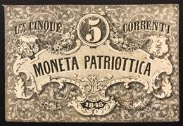 Venezia 5 Lire Moneta Patriottica 1848   LOTTO 3087 - [ 4] Emisiones Provisionales