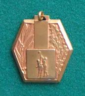 Médaille En Métal Jaune Sur Le Thème Du Basket-Ball - Other