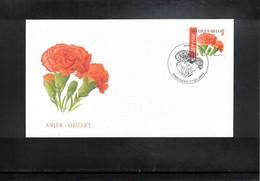 Belgium 2004 Flowers Clove FDC - Pflanzen Und Botanik