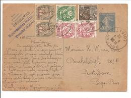 1932 Entier CP Semeuse Camee 40c SANS DATE Afr.suplementaire 6TP Blanx+Expo 1931.Tarif UPU 1.8.26 - 1921-1960: Periodo Moderno