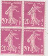 N°190 20 Sans C Et 0 Partiel X - 1906-38 Semeuse Con Cameo