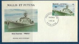 "Wallis FDC YT 280 "" Navire De Guerres "" Enveloppe Du 4.12.1981 - FDC"