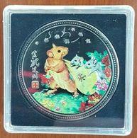 Médaille Signe Zodiaque Chinois Année Du RAT 2020 Argentée En Couleurs - Jetons En Medailles