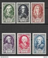 France 1949 Mi Nr. 871-876 MNH - Nuovi