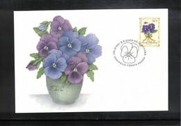 Finland 2003 Flowers FDC - Pflanzen Und Botanik