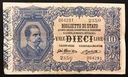 10 Lire Vittorio Emanuele III° Serie 2350 11 10 1915 Raro Naturale Bb/spl Ma Incrostazione Al R. LOTTO 3090 - Italia – 10 Lire