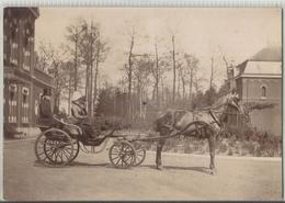 Attelage Calèche (photo Sur Carton) - Bespanning Koets (Foto Op Karton) 1889 - Autres