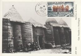 CARTE MAXIMUM - DAHOMEY - PA N°18 (1960) Case Somba - Benin - Dahomey (1960-...)