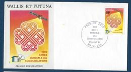 "Wallis FDC YT 305 "" Communications "" Enveloppe Du 25.8.1983 - FDC"