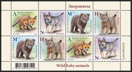 Belarus 2020 Wild Baby Animals Fauna Bl. S/S MNH - Bielorussia