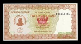 Zimbabwe 20000 Dollars 2003 (2005) Pick 23 FY SC UNC - Zimbabwe