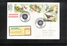 Czech Republic 2008 Reptiles + Bird + Butterfly Interesting Registered Cover - Other