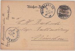DR - 3 Pfg. K/A, Bücherzettel Frankfurt A.M.9 - München 1896 - Briefe U. Dokumente