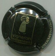 CAPSULE-CHAMPAGNE VIGNERON Indépendant N°11 Noir & Or - Champagne