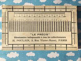 Carte Le Precis Odontometre H Poulin - Zubehör