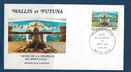 """Wallis FDC Aerien YT 141 (PA) """" Mont Lulu """" Enveloppe Du 5.11.1984 - FDC"""