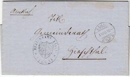 Schweiz - Aarau 1868 Portofreier Dienstbrief N. Hirschthal - Mit Inhalt - Schweiz
