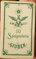 RARISSIMO PACCHETTO PIENO SIGARETTE SPAGNOLETTE GIUBEK DA 10 1915 - Schnupftabakdosen (leer)
