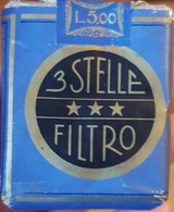 RARISSIMO PACCHETTO PIENO SIGILLATO SIGARETTE TRE STELLE FILTRO PRIMA VERSIONE 1930 - Schnupftabakdosen (leer)