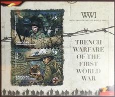 Grenadines Of St Vincent Canouan 2014 World War I Minisheet MNH - St.Vincent & Grenadines