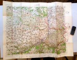 ©1919 LIEGE CARTE D ETAT MAJOR Entoillée WAR OFFICE HASSELT MAASTRICHT DIEST SINT-TRUIDEN VERVIERS SERAING AMAY HUY S826 - Carte Topografiche