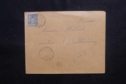 FRANCE - Enveloppe De Soupex Pour Castelnaudary En 1901, Affranchissement Sage - L 49966 - Postmark Collection (Covers)