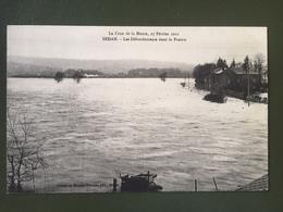 La Crue De La Meuse, 27 Février 1910. SEDAN-Les Débordements Dans La Prairie - Sedan