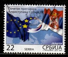 SERBIE 533° 22D Négociations Pour L'adhésion De La Serbie à L'union Européenne (10% De La Cote + 0,25) - Serbie