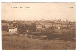 CPA 71 MONTMELARD - La Gare - Voie Chemin De Fer (disparue) - Train - Vue Générale - France