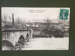 SEDAN- Inondation Du 27 Février 1910-Le Pont-Neuf - Sedan