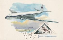 CARTE MAXIMUM - MONACO - De Havilland Comet   (1953) - Airplanes