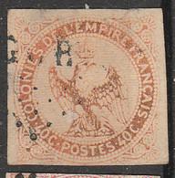 PIA - FRANCIA - COLONIE  - 1859-65 : Fauna - Aquila Imperiale -  (Yv 5) - Aigle Impérial