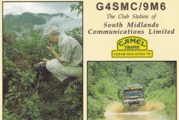 South Midlands Safari Malaysia Camel Trophy QSL Amateur Radio Postcard Card - QSL-Kaarten