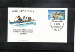 Wallis Et Futuna 1996 World Pirogue Championship FDC - Kano