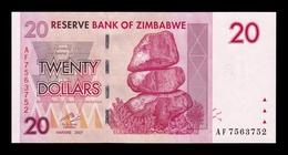 Zimbabwe 20 Dollars 2007 Pick 68 SC UNC - Zimbabwe
