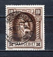 SARRE N° 102   OBLITERE COTE 37.00€  PIETA DE LA CHAPELLE DE BLIESKASTEL - Used Stamps