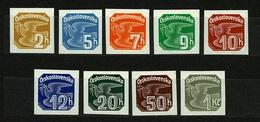 1937 Czechoslovakia Mi 364-372 * MLH - Ungebraucht