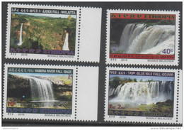 ETHIOPIA, 2016, MNH, WATERFALLS,4v - Other