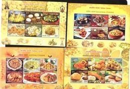 INDIA, 2018, MNH, REGIONAL INDIAN CUISINE, RICE, DAL, LENTILS, 4 SHEETLETS - Alimentation