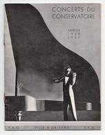 Programme Concerts Du Conservatoire Ville D'Orléans F.A.O. Saison 1938-1939 Photos Fernand Gabez Maurice Ravel - 1901-1940