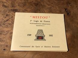 324/ MISTROU 1 ER LOGIS DE FRANCE PONTEMPEYRAT HAUTE LOIRE - Visiting Cards