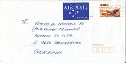 Australia Cover Sent Air Mail To Germany 20-3-1992 Single Franked - 1990-99 Elizabeth II