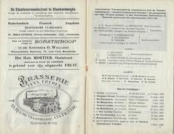OOSTENDE * TONEEL SCHOUWBURG  * 1927 *  * RECLAMES  BRASSERIE - BIEREN - HOTELS ..*  ZIE ENKELE SCAN18 PP * 21.5 X 14 CM - Programmes