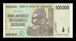 Zimbabwe 500000 Dollars 2008 Pick 76 SC UNC - Zimbabwe